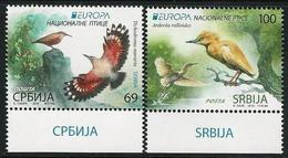 """SERBIA /SERBIEN / SRBIJA  -EUROPA 2019 -NATIONAL BIRDS.-""""AVES -BIRDS -VÖGEL-OISEAUX""""- SERIE N - 2019"""