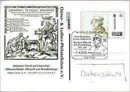 N 365) Deutschland Pluskarte SSt Halle 2019: Dürer, Luther, Albrecht Brandenburg - Christianity