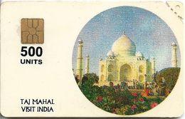 India - Aplab - Visit India, Taj Mahal, Chip APL 01, 500Units, Mint - Inde