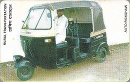 India - Aplab - Auto Rickshaw (Black/Red/Yellow), Chip TH 02, 01.1994, Used Or Mint? - India