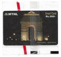 India - MTNL - India Gate, New Delhi, Chip IN4, Exp. 31.12.2004, 200₹, NSB - India