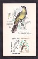 Argentina - 1962 - Carte Maximun - Oiseaux Argentins - Calandria - Oiseaux