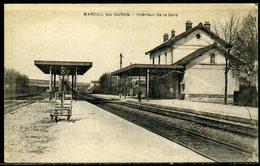 Cpa  Mareuil Sur Ourcq (60)   Intérieur De La Gare - Frankrijk