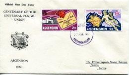 Ascension 1974 Centenary Of UPU FDC Cover - Ascension (Ile De L')