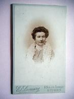 PHOTO CDV JEUNE FEMME ELEGANTE  MODE  Cabinet LAMAURY A GISORS  EURE - Photographs