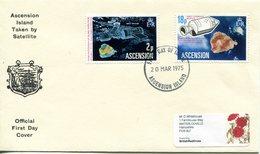 Ascension 1975 Space Satellites FDC Cover - Ascension (Ile De L')