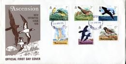 Ascension 1976 Birds FDC Cover Set Of 3 - Ascension