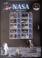 GROSSBRITANNIEN GRANDE BRETAGNE GB SMILER SHEET NASA MOON LANDING APOLLO 11 LIMITED EDITION NO 28 OF 200 - Ganze Bögen & Platten