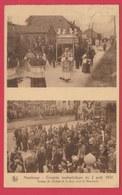 Havelange - Congrès Eucharistique Du 2 Août 1931 - Groupe De Cortège Et La Foule Vers Le Monument - 1932 ( Voir Verso ) - Havelange