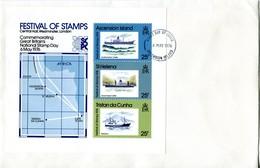 Ascension 1976 Festival Of Stamps, London MS FDC Cover - Ascension (Ile De L')