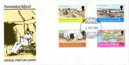 Ascension 1977 Centenary Of Visit Of Professor Gill FDC Cover - Ascension (Ile De L')