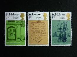 Saint Helena, 1980 London 1980 Intl. Stamp Exhib., May 6·14. Scott #338-340 MNH Cv. 1,20$ - Isola Di Sant'Elena