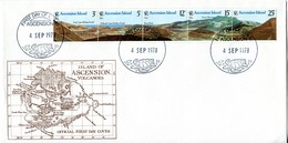 Ascension 1978 Volcanic Rock Formations FDC Cover - Ascension (Ile De L')