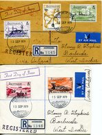Ascension 1979 80th Anniversary Of Eastern Telegraph Company's Arrival FDC Cover Pair To Barbuda - Ascension