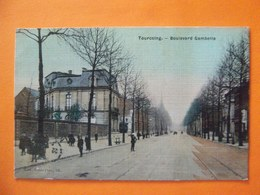 Cpa  Tourcoing 59  Rue Gambetta Couleur - Tourcoing
