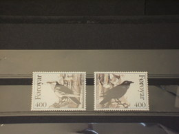 FOROYAR - 1995 UCCELLI 2 VALORI - NUOVI(++) - Isole Faroer