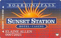 Sunset Station Casino - Las Vegas, NV - Slot Card - Copyright 1997 - Wide Border Around Sunset Station - Casinokarten