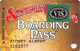 Station Casinos Las Vegas, NV - Slot Card Copyright 2000 - 5 Logos - Green VI$ - Casino Cards