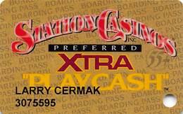 Station Casinos Las Vegas, NV - Slot Card Copyright 2001 - Preferred Xtra Play Cash 55+ - Casinokarten