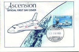 Ascension 1981 Space Shuttle FDC Cover - Ascension (Ile De L')