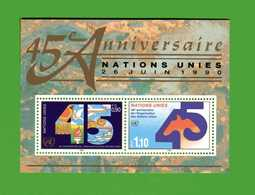 (5)  Nations Unies 1990 Vienne // Bloc. 6 NEUF ** // - ONU