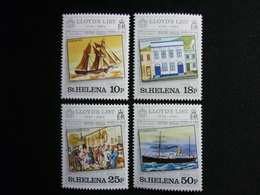 Saint Helena, 1984 Lloyd's List Issue Scott #412-415 MNH Cv. 2,80$ - Isola Di Sant'Elena