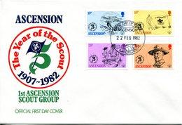 Ascension 1982 75th Anniversary Of Boy Scouts Movement FDC Cover - Ascension (Ile De L')