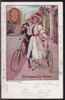 Dürkopp Bicycles Graz, Mailed 1907 - Postcards