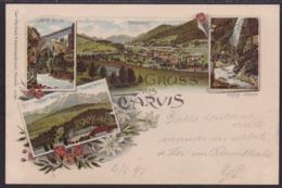 Gruss Aus Tarvis, Colour Litho, Mailed 1897 - Udine