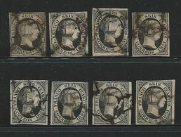 SPAGNA - 1851 - Regina ISABELLA II - N.° 6 Usati - Cat. 40,00 € - Lotto 301 Bis - 1850-68 Regno: Isabella II