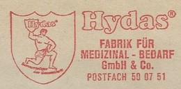 EMA METER STAMP FREISTEMPEL HYDA STRONG MAN FABRIK MEDIZINAL MEDICINE - Medicine
