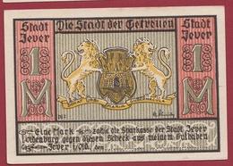 Allemagne 1 Notgeld 1 Mark  Stadt Jever (RARE) Dans L 'état Lot N °4472 - Collections