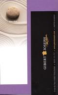 Marque-page °° Librairie Gibert Joseph Toulouse - Bien être - Galet Sable - 5x15 - Marque-Pages