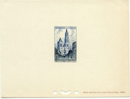 1252) Épreuve De Luxe Du N°1165 Cathédrale De Senlis - Epreuves De Luxe