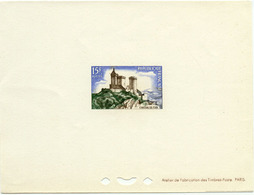 1255) Épreuve De Luxe Du N°1175 Chateau De Foix - Epreuves De Luxe