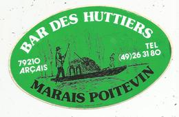 Autocollant , BAR DES HUTTIERS , Marais Poitevin ,79 , ARCAIS - Stickers