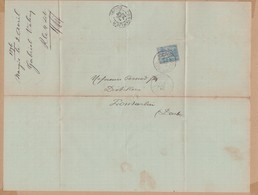 LETTRE 1896 ABSINTHE ET SIROPS NANGIS  A PONTARLIER VOIR PHOTOS - Postmark Collection (Covers)