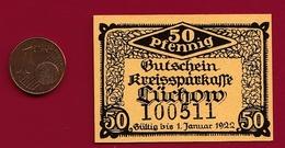 Allemagne 1 Notgeld 50 Pfenning  Stadt Lüchow (RARE-Cartonné ) Dans L 'état Lot N °4487 - Collections