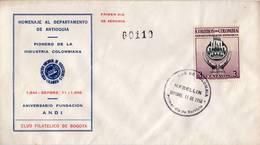 Lote 836mF, Colombia, 1956, SPD-FDC, Departamentos De Colombia, Antioquia, Industria, Industry, Medellin - Colombia
