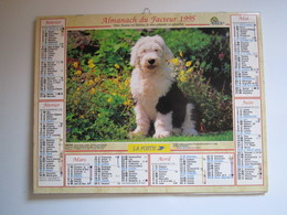 1995 ALMANACH DU FACTEUR Calendrier Des Postes HAUTE-MARNE 52 - Calendriers