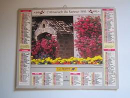1993 ALMANACH DU FACTEUR Calendrier Des Postes HAUTE-MARNE 52 - Calendriers