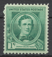 United States 1940 Mi# 475** STEPHEN COLLINS FOSTER, COMPOSER - Unused Stamps