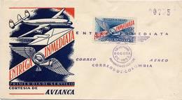 Lote E2F, Colombia, 1958, SPD-FDC, Entrega Inmediata, Airplane, Express Delivery - Colombia