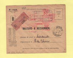 EMA - Machine De Remplacement WA - Recommande Des Valeurs A Recouvrer - 1930 - Marcophilie (Lettres)