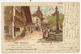 S7674 - Paris Exposition 1900 - Chalet D' Effretikon De L'Union Des Fabriques De Soieries Adolf Grieder Zurich - - Expositions