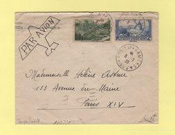 Troupes D'occupation Au Levant - Poste Aux Armees 606 - Par Avion Destination Paris - 8-7-1939 - Postmark Collection (Covers)