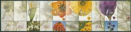 Israel 2001 JERUSALEM '01 Schnittblumen 1616/19 ZD Postfrisch Gefaltet (SG30055) - Ungebraucht (mit Tabs)