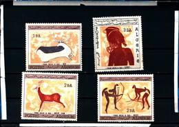 6540B)  Algeria - 1967- Rock Paintings 4v- MNH** - Togo (1960-...)