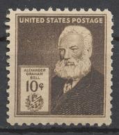 USA 1940 Mi# 489** ALEXANDER GRAHAM BELL, INVENTOR - Unused Stamps