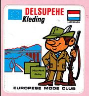 Sticker - DELSUPEHE Kleding - Europese Mode Club - Luxemburg - Autocollants
